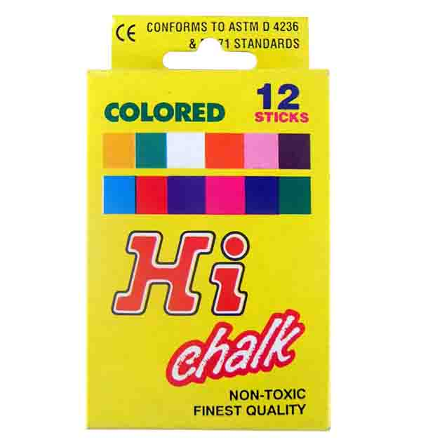 Regular Colored Chalk 12pc